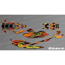 Kit de decoració, Plena PONT Edició (Vermell/Taronja) - SEADOO ESPURNA -idgrafix