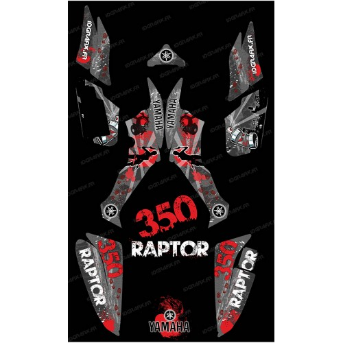 Kit decoration Survivor Grey - IDgrafix - Yamaha 350 Raptor - IDgrafix