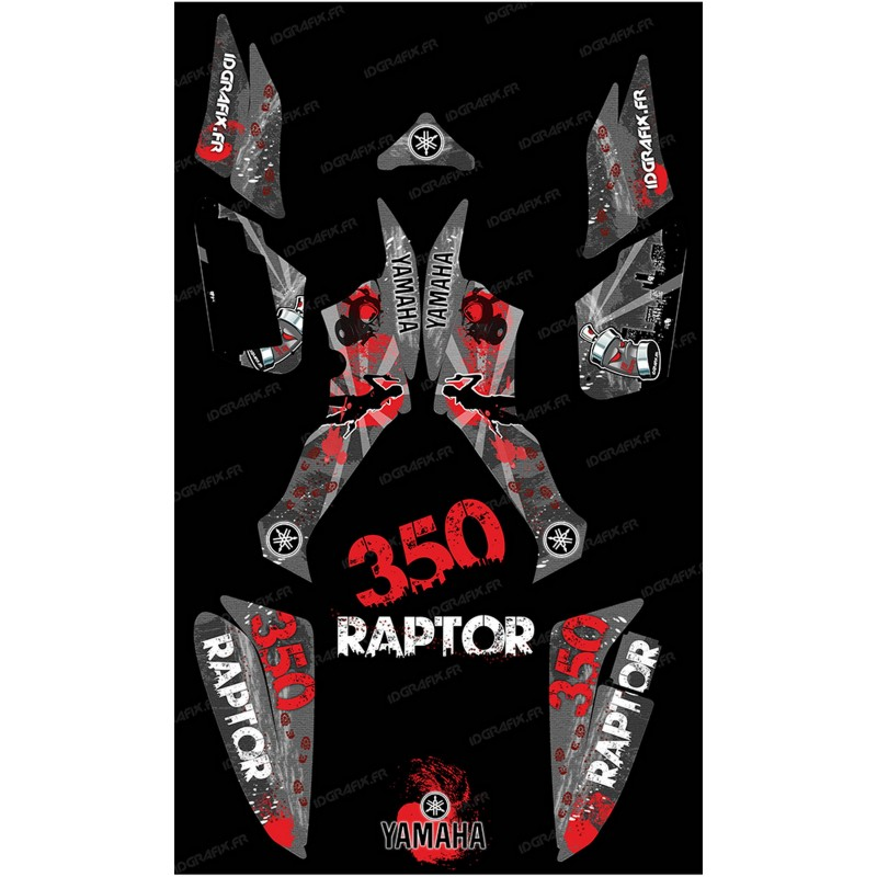 Kit de decoració Supervivent Gris - IDgrafix - Yamaha Raptor 350 -idgrafix