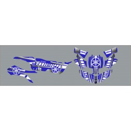 Kit de decoració Vintage sèrie Blau/Blanc - Yamaha YXZ 1000 -idgrafix