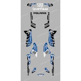Kit de decoración de la Calle Azul - IDgrafix - Polaris 500 Deportista
