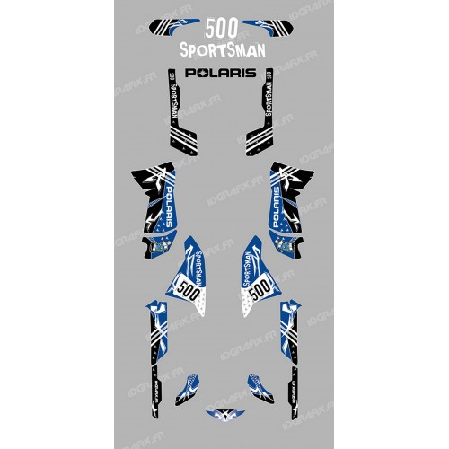 Kit décoration Street Bleu - IDgrafix - Polaris 500 Sportsman