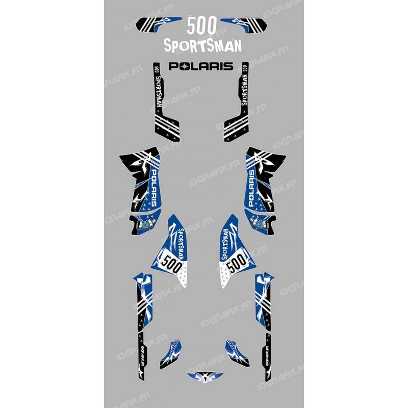 Kit de decoración de la Calle Azul - IDgrafix - Polaris 500 Deportista -idgrafix