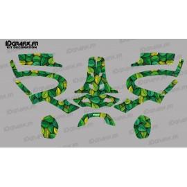 Sticker Leaf edition (Vert/Orange)- Casque PFANNER Protos