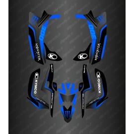 Kit Deco Monster (Black/blue) - Kymco 300 Maxxer-idgrafix
