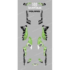 Kit decoration Street Green - IDgrafix - Polaris 500 Sportsman