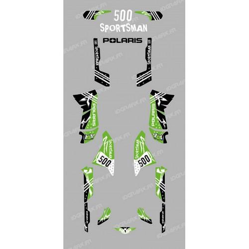 Kit de decoración de la Calle Verde - IDgrafix - Polaris 500 Deportista