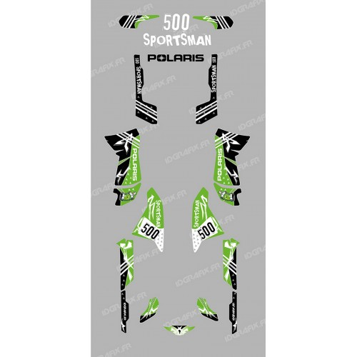 Kit decoration Street Green - IDgrafix - Polaris 500 Sportsman