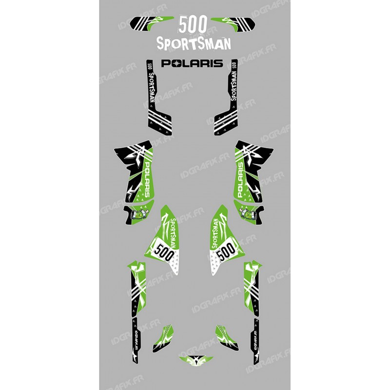 Kit decoration Street Green - IDgrafix - Polaris 500 Sportsman-idgrafix