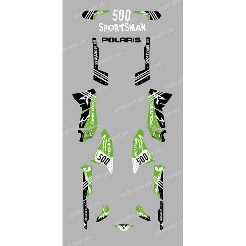 Kit dekor Street Grün - IDgrafix - Polaris 500 Sportsman -idgrafix
