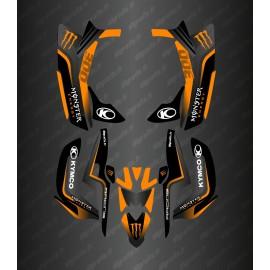 Kit Déco Race Monster (Orange) - Kymco 300 Maxxer (après 2020)