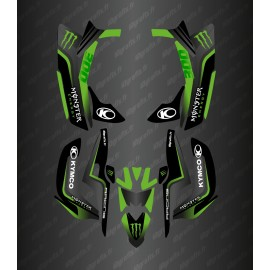 Kit Déco Race Monster (Vert) - Kymco 300 Maxxer (après 2020)