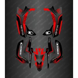 Kit Déco Race Monster (Rouge) - Kymco 300 Maxxer (après 2020)