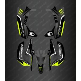 Kit Déco Race Monster (Jaune Fluo) - Kymco 300 Maxxer (après 2020)