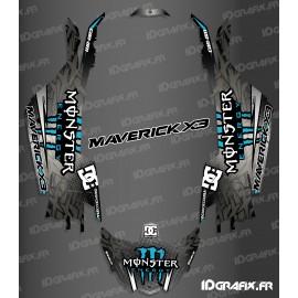 Kit décoration DC Series Bleu - Idgrafix - Can Am Maverick X3