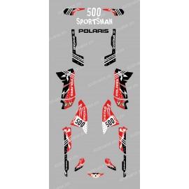 Kit de decoración de la Calle Rojo - IDgrafix - Polaris 500 Deportista