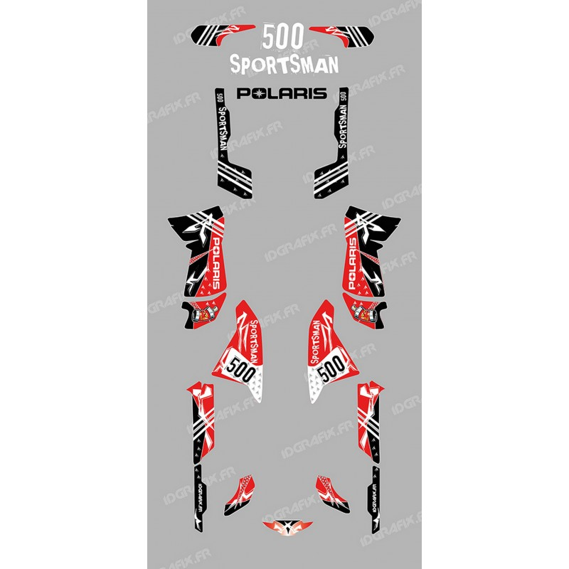 Kit decoration Street Red - IDgrafix - Polaris 500 Sportsman-idgrafix