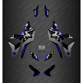 Kit de decoración de Camo Edition (Gris/Azul) - Yamaha MT-09 Tracer -idgrafix