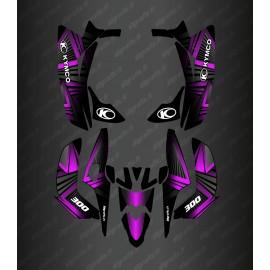 Kit Deco Prism Edition (Fushia) - Kymco 300 Maxxer (after 2020)-idgrafix