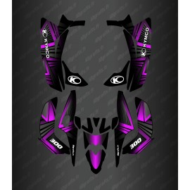 Kit Deco Prisma Edició (Fushia) - Kymco Maxxer 300 (després de 2020) -idgrafix