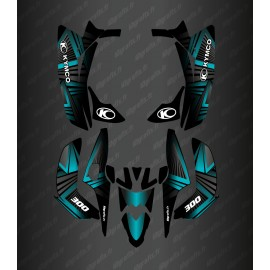 Kit Deco Prism Edition (Blue) - Kymco 300 Maxxer (after 2020)-idgrafix
