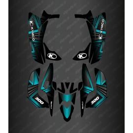 Kit Deco Prisma Edición (Azul) - Kymco Maxxer 300 (a partir de 2020) -idgrafix