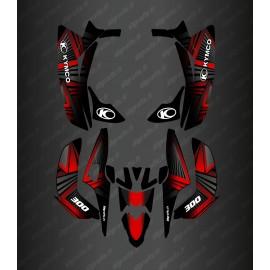 Kit Déco Prism Edition (Rouge) - Kymco 300 Maxxer (après 2020)
