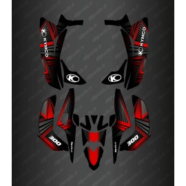 Kit Deco Prism Edition (Red) - the Kymco 300 Maxxer (after 2020)-idgrafix