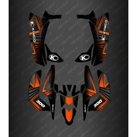 Kit Deco Prism Edition (Orange) - the Kymco 300 Maxxer (after 2020)-idgrafix