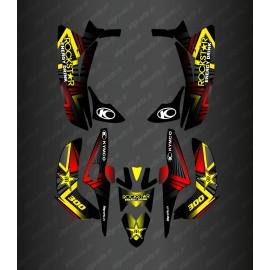 Kit Deco Rockstar Edition (Yellow) - Kymco 300 Maxxer (after 2020)-idgrafix