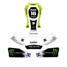 KIT DÉCO 100% PERSO BLOCK SUBARU SERIES  pour Karting CRG Rotax 125