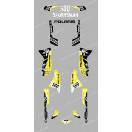 Kit décoration Street Jaune - IDgrafix - Polaris 500 Sportsman
