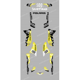 Kit decoration Street Yellow - IDgrafix - Polaris 500 Sportsman