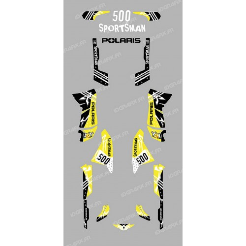 Kit de decoración de la Calle de color Amarillo - IDgrafix - Polaris 500 Deportista