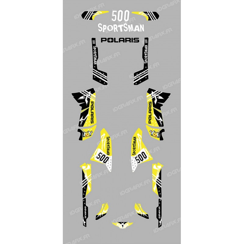 Kit décoration Street Jaune - IDgrafix - Polaris 500 Sportsman-idgrafix