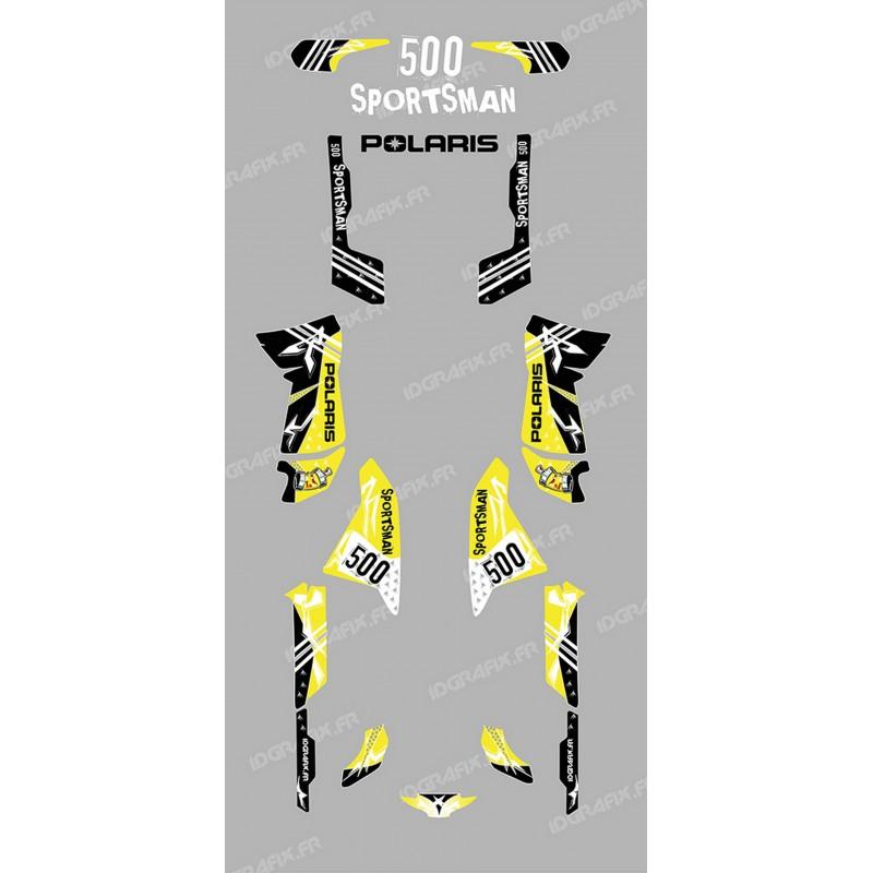 Kit de decoració Carrer Groc - IDgrafix - Polaris 500 Esportista -idgrafix