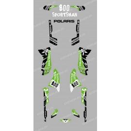 Kit de decoració Carrer verd - IDgrafix - Polaris 800 Esportista