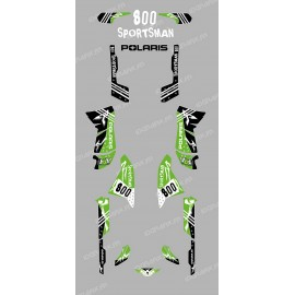 Kit decoration Street green - IDgrafix - Polaris 800 Sportsman