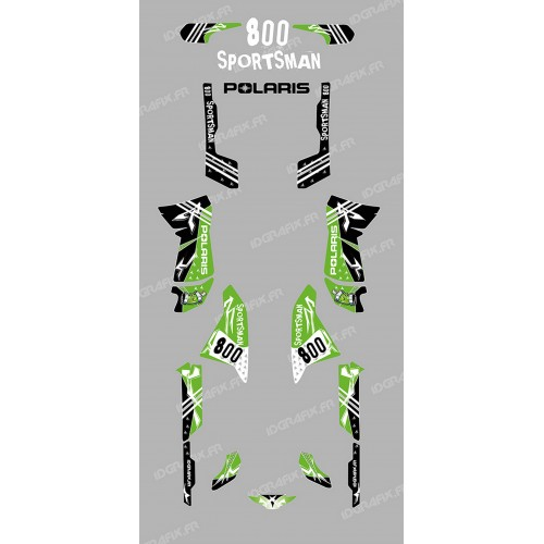 Kit decoration Street green - IDgrafix - Polaris 800 Sportsman  - IDgrafix