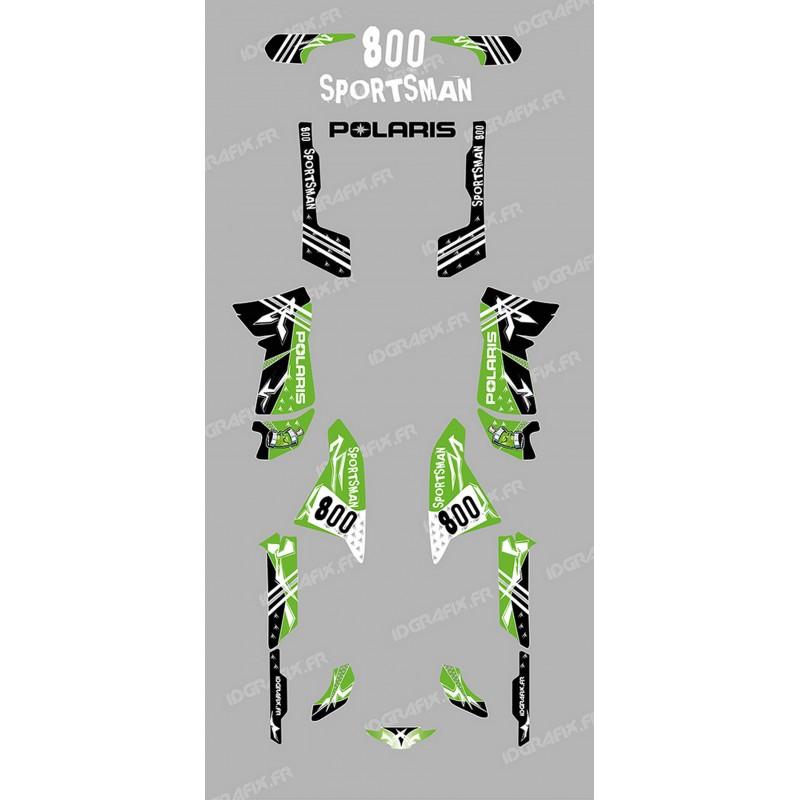 Kit de decoración de la Calle verde - IDgrafix - Polaris 800 Deportista  -idgrafix