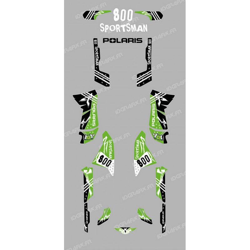 Kit decoration Street green - IDgrafix - Polaris 800 Sportsman -idgrafix