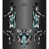 Kit de decoració Monstre Edició COMPLETA (Gris/Blau Turquesa) - Idgrafix - CF Moto ZForce