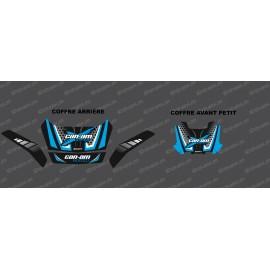 Kit décoration Limited Can Am (Bleu) - coffre origine Avant + Arrière BRP