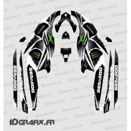 Kit de décoration Monstruo Edición Completa (Verde) - para Seadoo GTI GTR -idgrafix