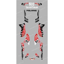 Kit decorazione Street Rosso - IDgrafix - Polaris Sportsman 800