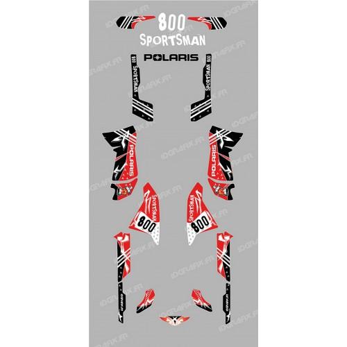 Kit de decoració Carrer Vermell - IDgrafix - Polaris 800 Esportista