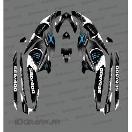Kit décoration Monster Full Edition (Bleu) - pour Seadoo GTI (après 2020)