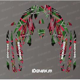 Kit décoration Lineup Full Edition (Rouge/Vert) - pour Seadoo GTI (après 2020)