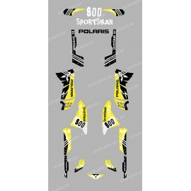 Kit décoration Street Jaune - IDgrafix - Polaris 800 Sportsman