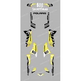 Kit decoration Street Yellow - IDgrafix - Polaris 800 Sportsman